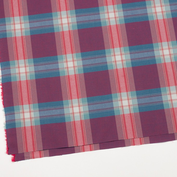 コットン×チェック(ブルーグレー&レッド)×ブロード イメージ2