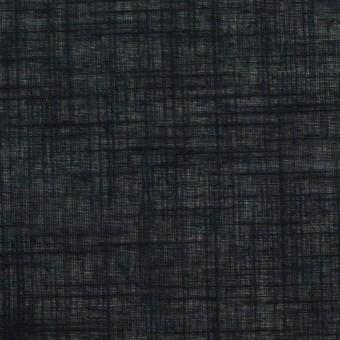 コットン×無地(ブラック)×ボイル