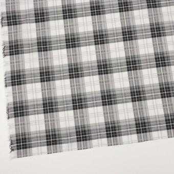 コットン&ナイロン×チェック(グレー&ブラック)×ボイルジャガード サムネイル2