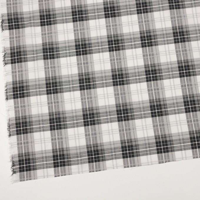 コットン&ナイロン×チェック(グレー&ブラック)×ボイルジャガード イメージ2