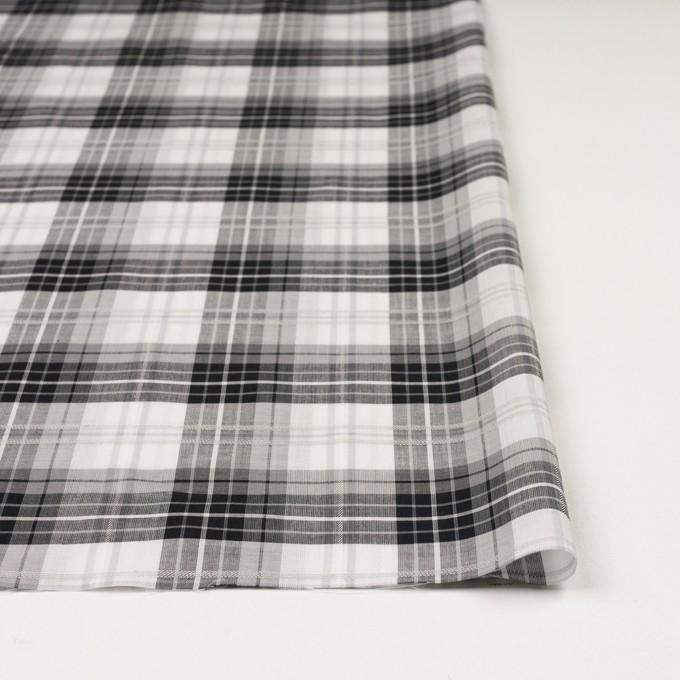 コットン&ナイロン×チェック(グレー&ブラック)×ボイルジャガード イメージ4