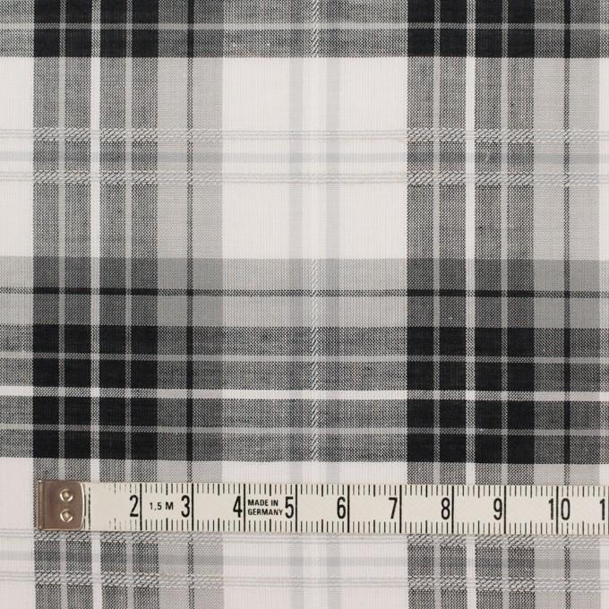 コットン&ナイロン×チェック(グレー&ブラック)×ボイルジャガード イメージ3