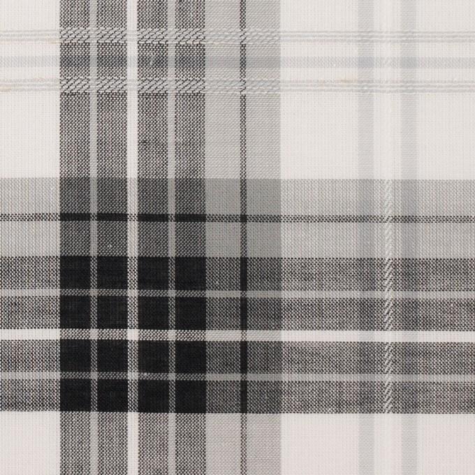 コットン&ナイロン×チェック(グレー&ブラック)×ボイルジャガード イメージ1
