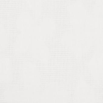 コットン×幾何学模様(オフホワイト)×蜂巣織&サテンジャガード