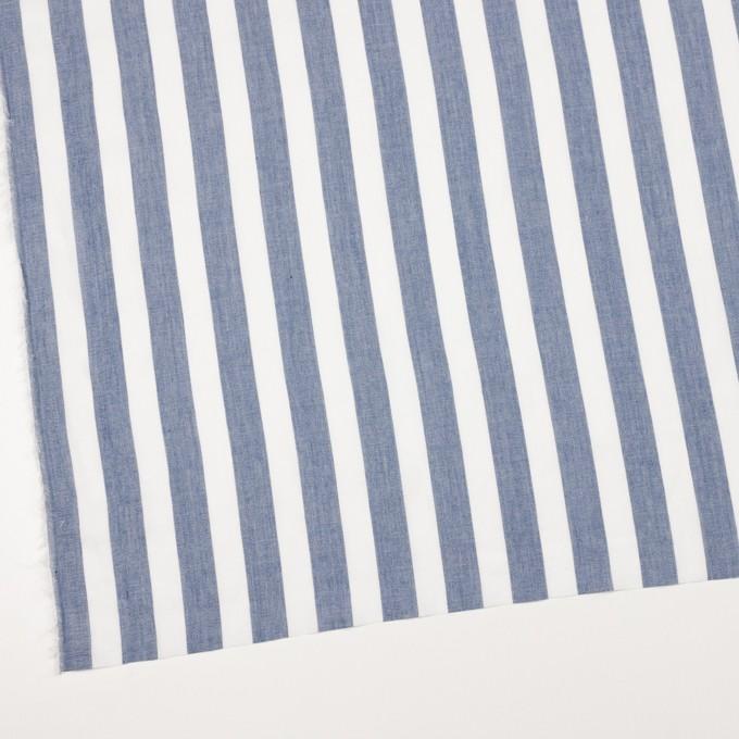 コットン&ポリエステル×ストライプ(アッシュブルー)×ジョーゼット イメージ2