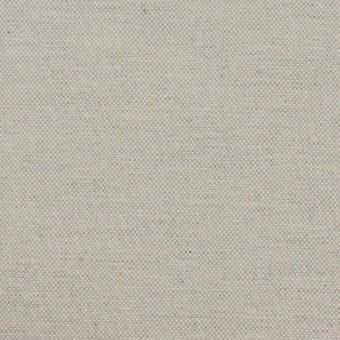コットン×無地(ライトグレー)×オックスフォード_イタリア製
