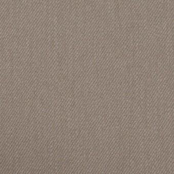 コットン&ポリウレタン×無地(ベージュグレー)×サージストレッチ