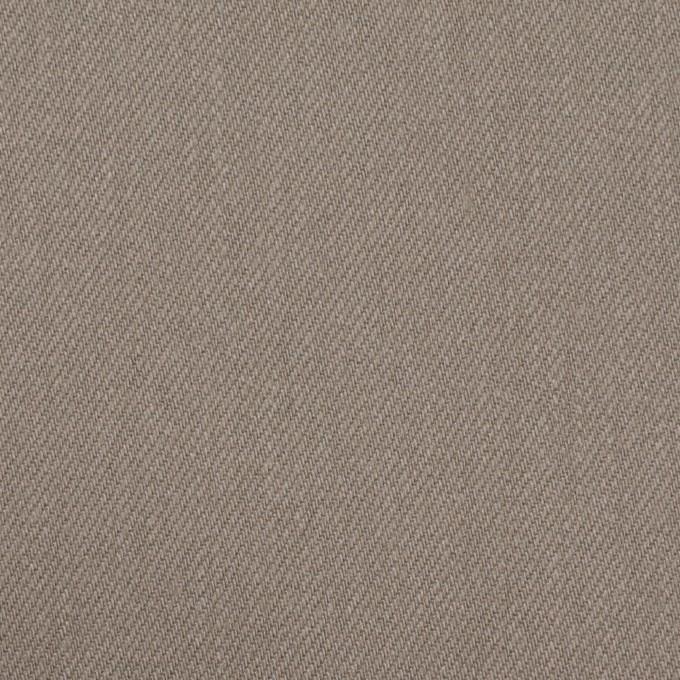 コットン&ポリウレタン×無地(ベージュグレー)×サージストレッチ イメージ1