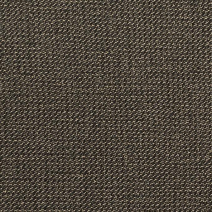 コットン×無地(チャコール)×サージ_イタリア製 イメージ1
