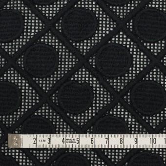 コットン×幾何学模様(ブラック)×ケミカルレース サムネイル4