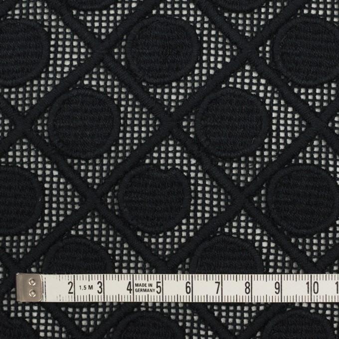 コットン×幾何学模様(ブラック)×ケミカルレース イメージ4