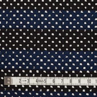 コットン×ボーダー(ネイビー&ブラック)×ローン刺繍 サムネイル4