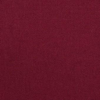 コットン&ポリウレタン×無地(エンジ)×チノクロス・ストレッチ_イタリア製