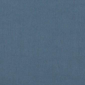 コットン&ポリウレタン×無地(ブルーグレー)×ギャバジンストレッチワッシャー_イタリア製
