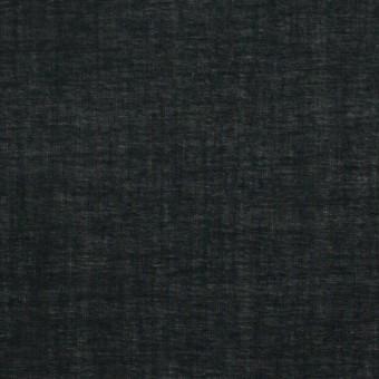 コットン&テンセル×無地(ブラック)×ボイル_全4色