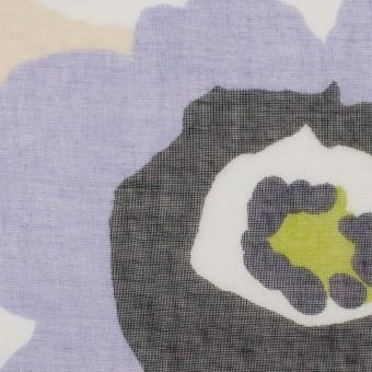 ポリエステル×フラワー(グレープ&イエローグリーン)×ボイル_全2色