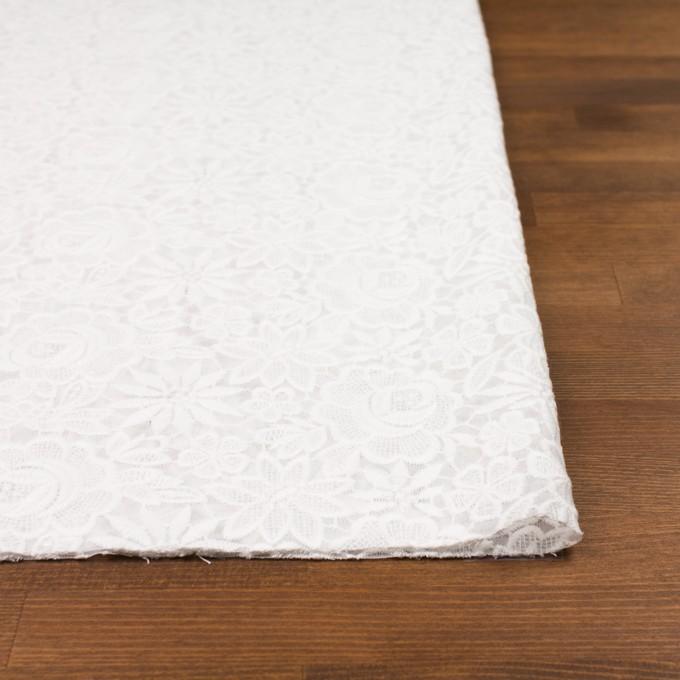 ポリエステル×フラワー(オフホワイト)×ジョーゼット刺繍 イメージ3