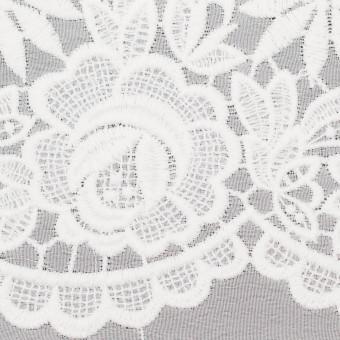 ポリエステル×フラワー(オフホワイト)×ジョーゼット刺繍