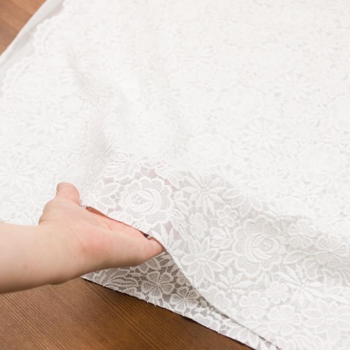 ポリエステル×フラワー(オフホワイト)×ジョーゼット刺繍 イメージ6