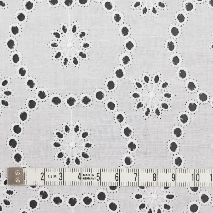 コットン×フラワー(ホワイト)×ローン刺繍_全3色 イメージ4