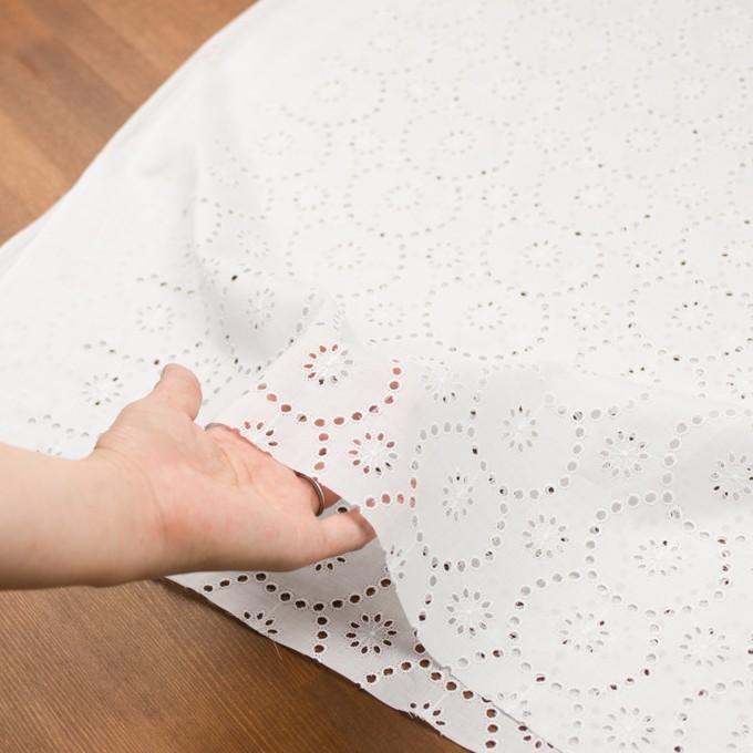 コットン×フラワー(ホワイト)×ローン刺繍_全3色 イメージ5