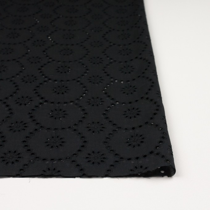 コットン×フラワー(ブラック)×ローン刺繍_全3色 イメージ3