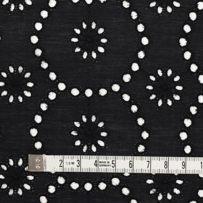 コットン×フラワー(ブラック)×ローン刺繍_全3色 イメージ4