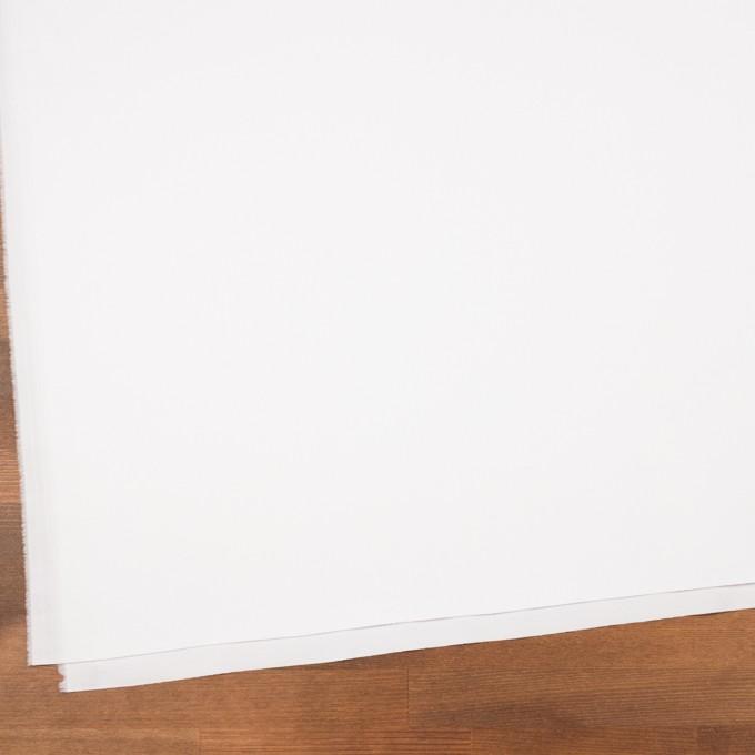 コットン&ポリウレタン混×無地(ホワイト)×サテンストレッチ イメージ2