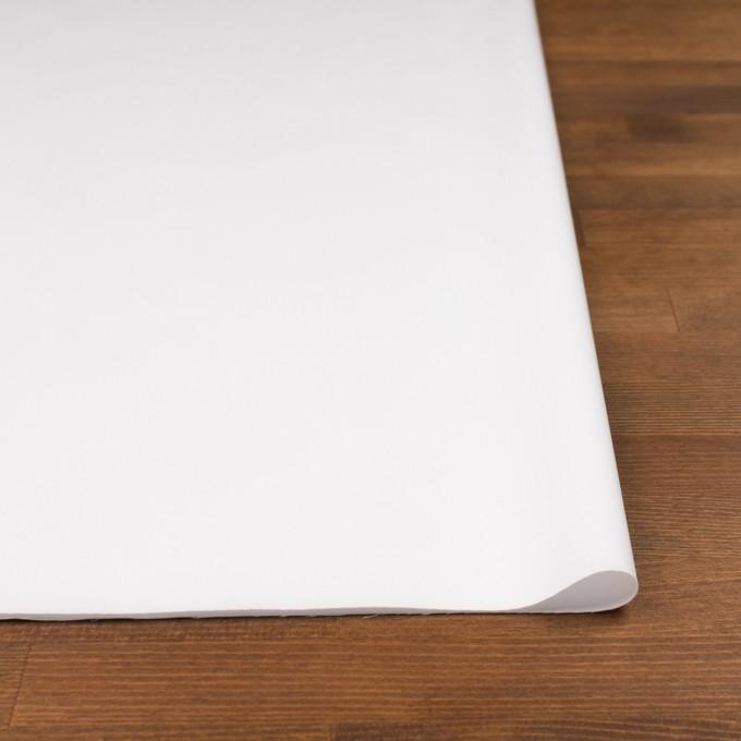 コットン&ポリウレタン混×無地(ホワイト)×サテンストレッチ イメージ3