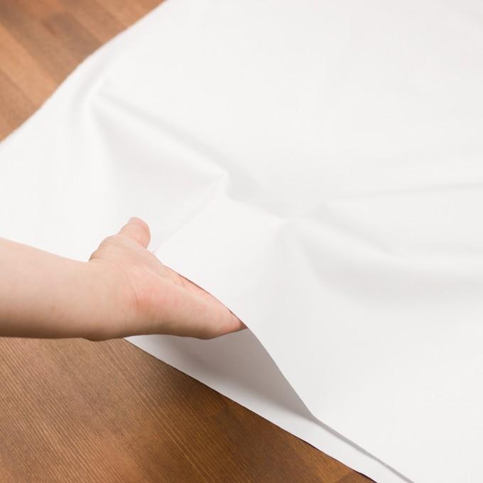 コットン&ポリウレタン混×無地(ホワイト)×サテンストレッチ イメージ5