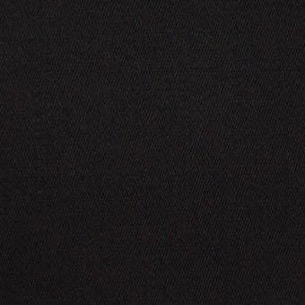 コットン&ポリウレタン×無地(ブラック)×サテンストレッチ