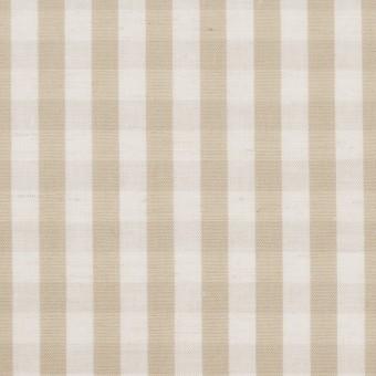 コットン&リネン×チェック(キナリ&ベージュ)×ポプリンワッシャー サムネイル1