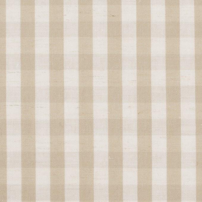コットン&リネン×チェック(キナリ&ベージュ)×ポプリンワッシャー イメージ1
