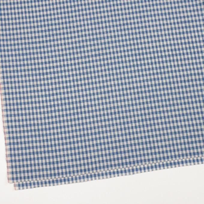 コットン&リネン×チェック(キナリ&インディゴブルー)×シーチング イメージ2