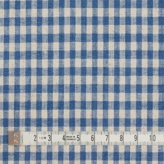 コットン&リネン×チェック(キナリ&インディゴブルー)×シーチング サムネイル4