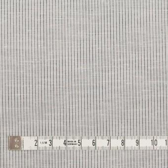 コットン&リネン×ストライプ(グレー)×ローン_全2色 サムネイル4