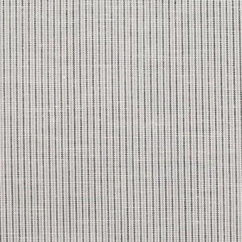 コットン&リネン×ストライプ(グレー)×ローン_全2色
