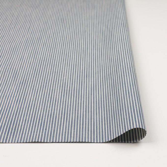 コットン×ストライプ(ブルーグレー&キナリ)×キャンバス イメージ3