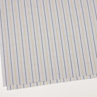 コットン×ストライプ(ライトグレー、イエロー&ネイビー)×オックスフォード サムネイル2