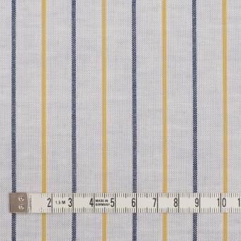 コットン×ストライプ(ライトグレー、イエロー&ネイビー)×オックスフォード サムネイル4