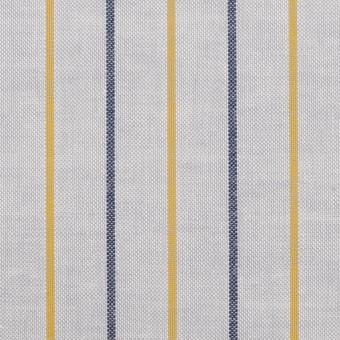 コットン×ストライプ(ライトグレー、イエロー&ネイビー)×オックスフォード サムネイル1