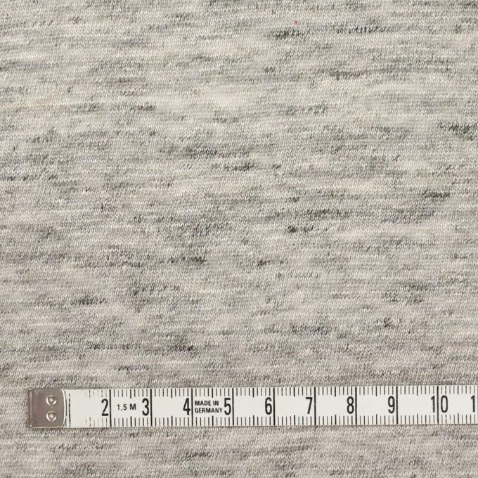 リネン×無地(ライトグレー)×天竺ニット_全2色 イメージ4