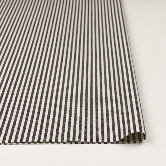 コットン×ストライプ(チャコール&キナリ)×ソフトデニムヒッコリー イメージ3