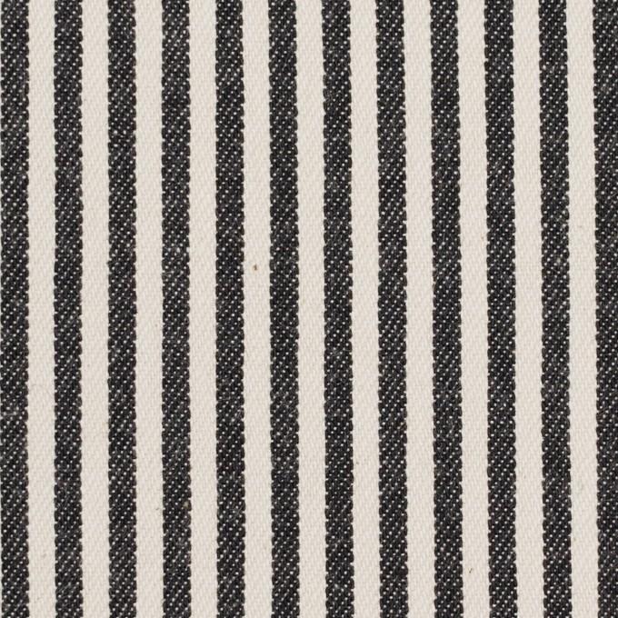 コットン×ストライプ(チャコール&キナリ)×ソフトデニムヒッコリー イメージ1