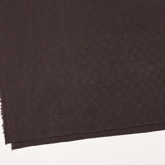 リネン&シルク×幾何学模様(ココア)×ジャガード_全2色_イタリア製 サムネイル2
