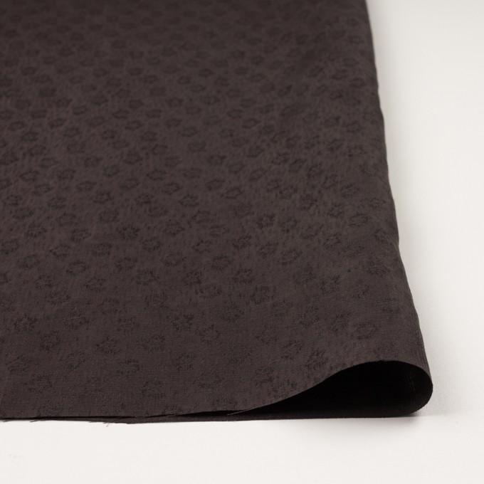 リネン&シルク×幾何学模様(ココア)×ジャガード_全2色_イタリア製 イメージ3
