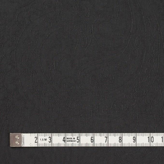 コットン×ペイズリー(チャコール)×ジャガード_イタリア製 イメージ4