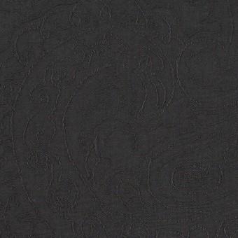コットン×ペイズリー(チャコール)×ジャガード_イタリア製 サムネイル1