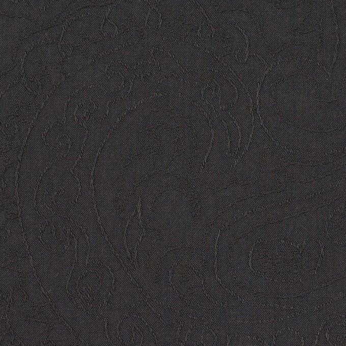コットン×ペイズリー(チャコール)×ジャガード_イタリア製 イメージ1