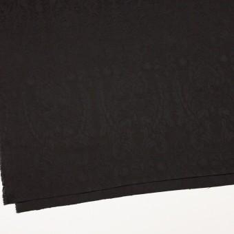 レーヨン&アセテート×幾何学模様(ダークブラウン)×サテンジャガード_イタリア製 サムネイル2